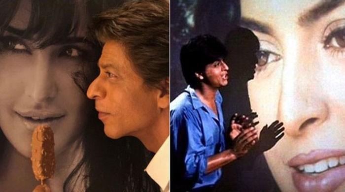شاہ رخ خان نے بالی وڈ کی باربی ڈول کترینہ کو 'آئی لو یو' کہہ دیا