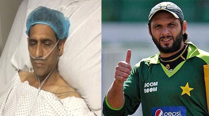 شاہد آفریدی ہاکی ہیرو منصور احمد کے علاج کیلئے میدان میں آگئے