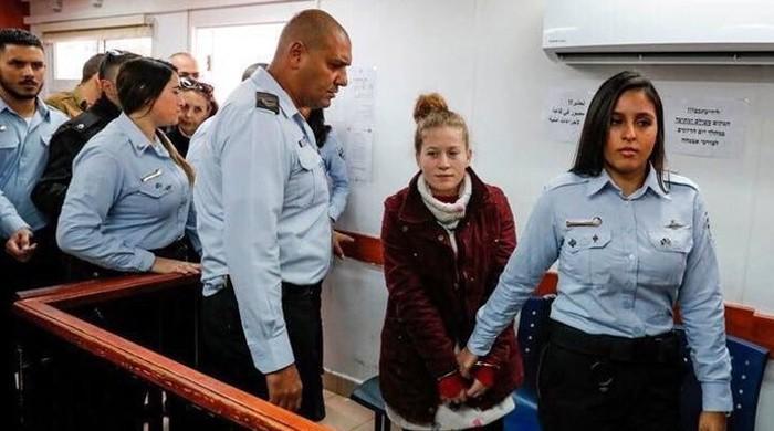 فلسطینی باہمت لڑکی احد تمیمی کو معاہدے کے بعد 8 ماہ کی سزا