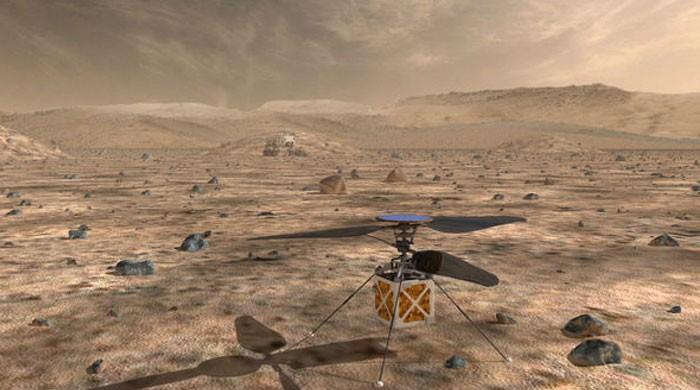 اب 'سرخ سیارے' پر ہیلی کاپٹر بھی جاسکے گا