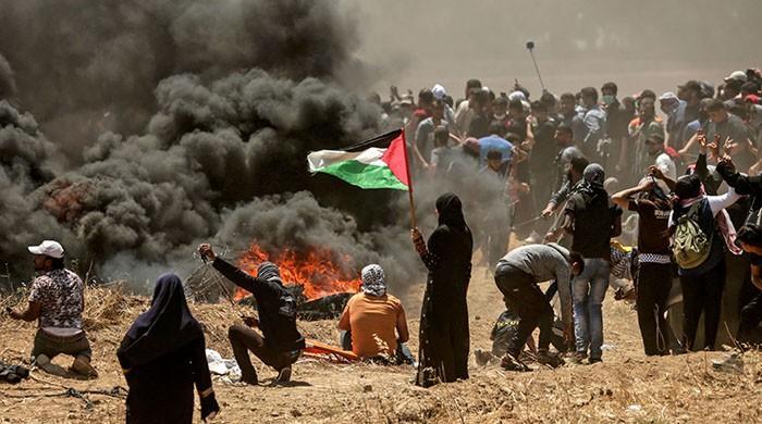 اسرائیلی سرحد پر مظاہرے غزہ کی ناکہ بندی کے خاتمے تک جاری رہیں گے، حماس رہنما
