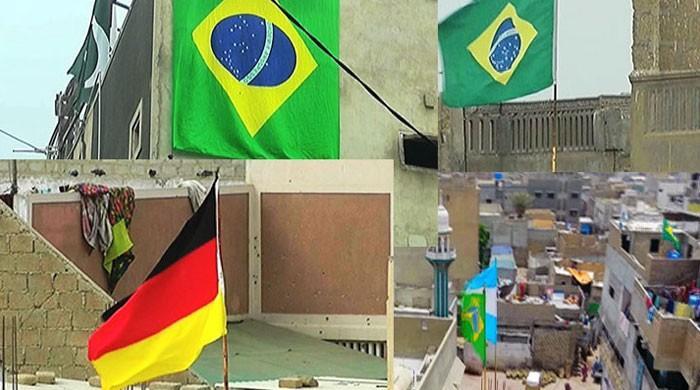 فٹبال ورلڈ کپ کا بخار پوری طرح لیاری کے شائقین پر سوار