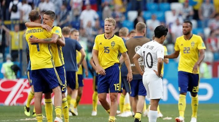 فٹبال ورلڈ کپ: سوئیڈن نے جنوبی کوریا کو ایک صفر سے شکست دے دی