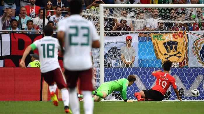فیفا ورلڈ کپ میں میکسیکو کی مسلسل دوسری فتح، جنوبی کوریا کو شکست دیدی