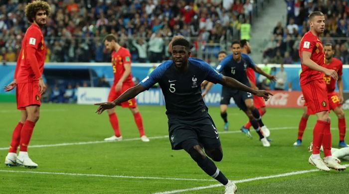 فٹبال ورلڈ کپ: فرانس، بیلجیئم کو شکست دے کر فائنل میں پہنچ گیا