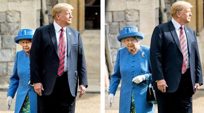 جب ڈونلڈ ٹرمپ نے ملکہ برطانیہ کو کنفیوژ کردیا