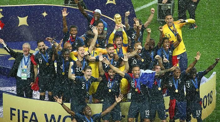 فرانس کروشیا کو ہراکر فٹ بال کا عالمی چیمپئن بن گیا