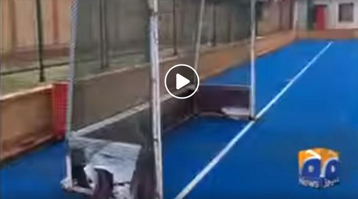 ایشین گیمز کیلئے ہاکی ٹیم کی سہولتوں سے محروم اصلاح الدین اکیڈمی میں ٹریننگ