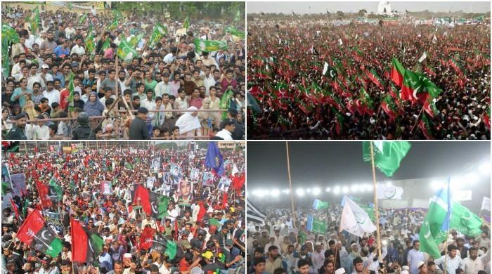 انتخابی مہم آخری مراحل میں داخل: سیاسی جماعتوں کے جلسوں میں تیزی