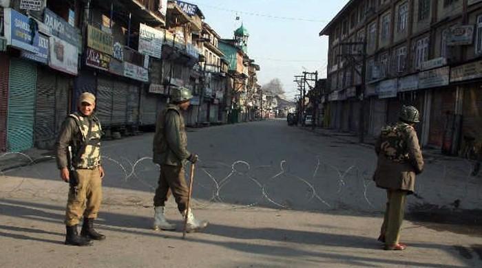 مقبوضہ کشمیر میں 6 نوجوانوں کی شہادت پر مکمل شٹرڈاؤن
