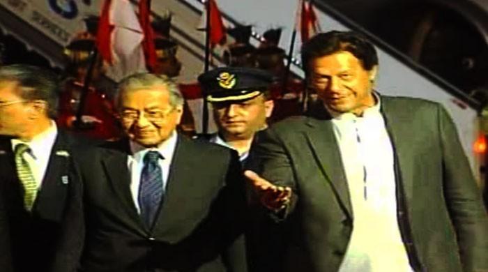 ملائیشیا کے وزیراعظم مہاتیر محمد تین روزہ دورے پر پاکستان پہنچ گئے