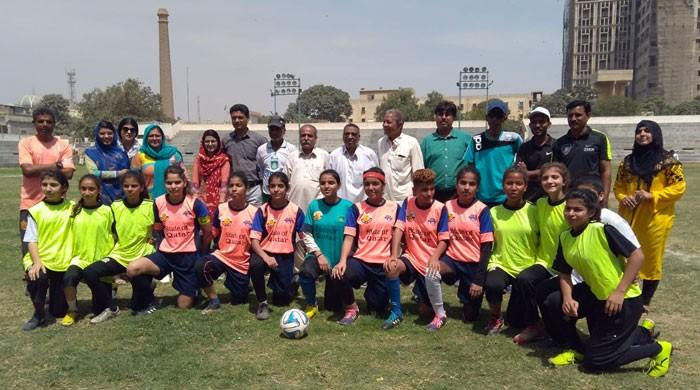 کراچی فٹبال ٹورنامنٹ میں لیاری کی خواتین کھلاڑیوں کی عمدہ کارکردگی