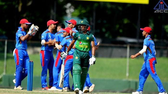 انڈر 19 ایشیا کپ میں پاکستان ٹیم افغانستان کیخلاف 78 رنز پر آؤٹ