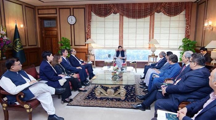 وزیراعظم عمران خان سے آئی ایم ایف کے وفد کی ملاقات