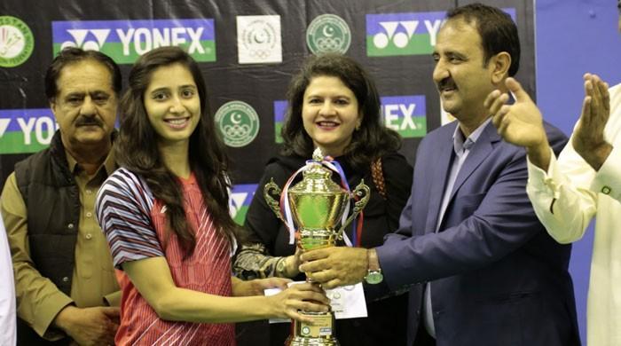 پاکستان انٹرنیشنل سیریز  بیڈمنٹن ٹورنامنٹ ماحور شہزاد نے جیت لیا