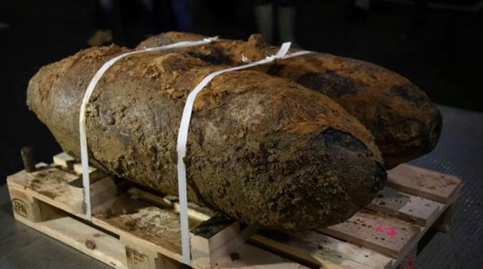 دوسری جنگِ عظیم کے 250 کلو وزنی 2 بم برآمد