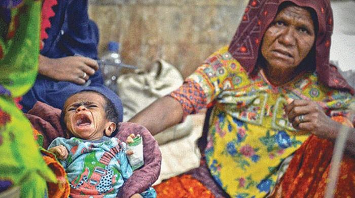تھرپارکر میں غذائی قلت اور دیگر امراض سے مزید تین بچے انتقال کر گئے