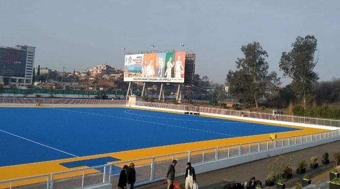راولپنڈی کے ایوب پارک اسٹیڈیم میں نئی آسٹرو ٹرف کا افتتاح