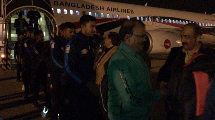 پاکستان کیخلاف ٹی ٹوئنٹی سیریز کیلئے بنگلادیشی ٹیم لاہور پہنچ گئی