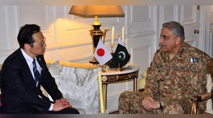 آرمی چیف سے جاپان کے خارجہ امور کے سینیئر نائب وزیر کی ملاقات
