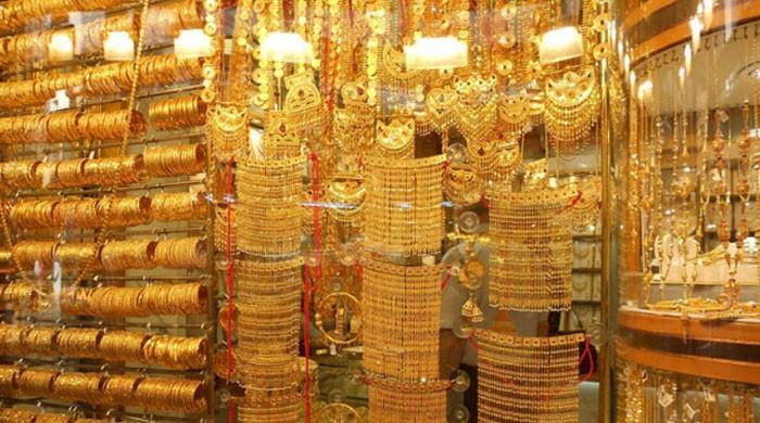 سونے کی فی تولہ قیمت میں ایک ہی دن میں 1350 روپے کا اضافہ