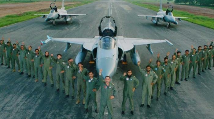 بھارتی طیارہ مار گرانے کی فتح کا سال مکمل ہونے پر خصوصی نغمہ جاری