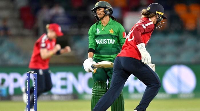 ویمن ٹی ٹوئنٹی ورلڈکپ: انگلینڈ نے پاکستان کو 42 رنز سے شکست دے دی