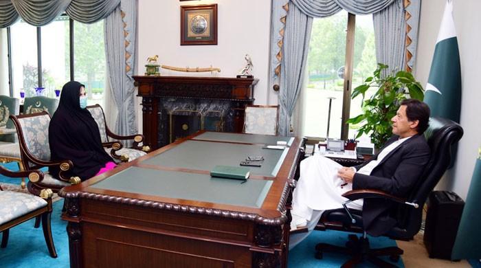 وزیر اعظم سے طیبہ خانم کی ملاقات، کورونا فنڈ کیلئے چیک پیش