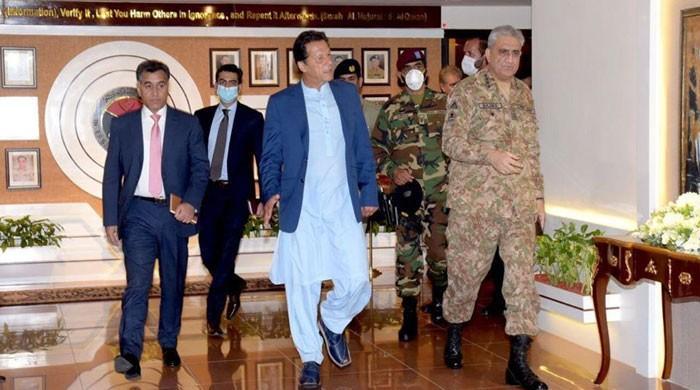 وزیر اعظم اور  آرمی چیف کا آئی ایس آئی ہیڈ کوارٹرز کا دورہ