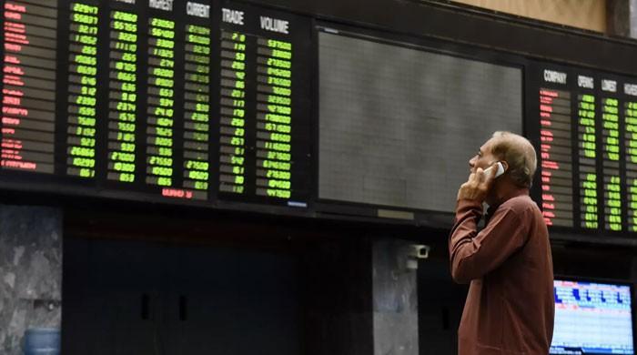 پاکستان اسٹاک ایکسچینج میں تیزی کا رجحان، ڈالر 20 پیسے سستا