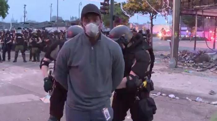 امریکا: سیاہ فام شخص کی ہلاکت کیخلاف احتجاج، پولیس اسٹیشن نذر آتش