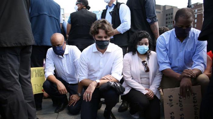 کینیڈا میں نسل پرستی کیخلاف ریلی میں وزیراعظم جسٹن ٹروڈو کی بھی شرکت