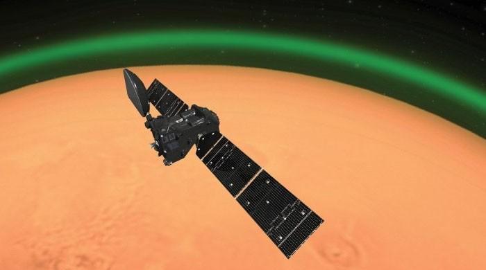 مریخ کے گرد سبز روشنی کا ہالا دریافت