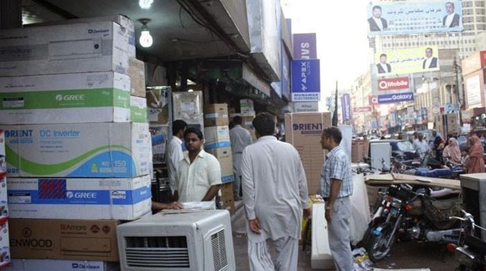 کراچی الیکٹرانکس ڈیلرز کا کل سے دکانیں کھولنے کا اعلان