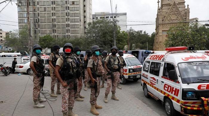 اسٹاک ایکسچینج حملے میں ہلاک دہشتگرد کے اہلخانہ لاش لینے کراچی پہنچ گئے