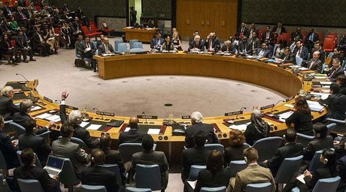 مقبوضہ کشمیر کی بد ترین صورتحال پر اقوام متحدہ کی سلامتی کونسل کا اجلاس