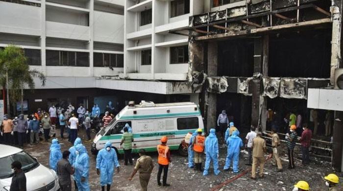 بھارت کے کورونا مرکز  میں آگ لگنے سے 10 مریض جھلس کر  ہلاک