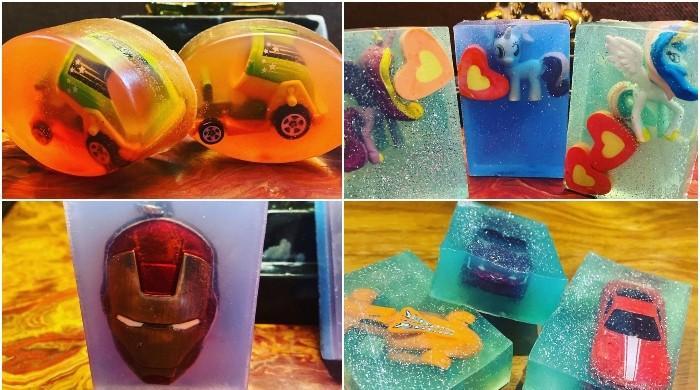 ننھے  پاکستانی کی کھلونے والے صابن بنا کر ہاتھ دھونے کی ترغیب