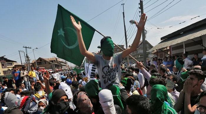مقبوضہ کشمیر میں بھی پاکستان کا یوم آزادی، جشن آزادی کے طور پر منایا جا رہا ہے