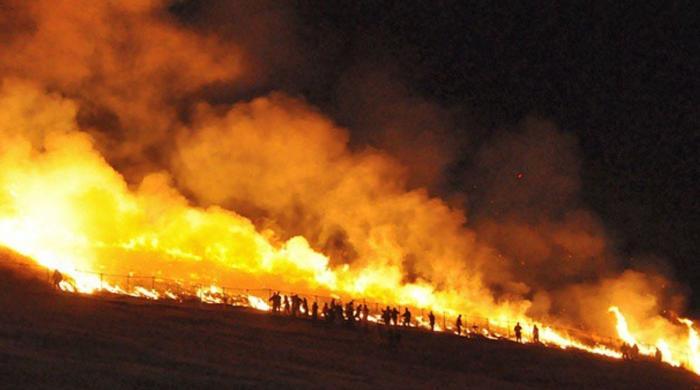 جاپان میں ہر سال پہاڑ پر آگ کیوں لگائی جاتی ہے؟