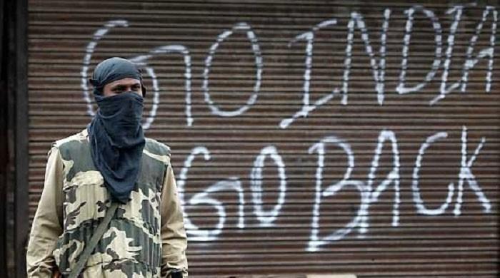 بھارت کا یوم آزادی مقبوضہ کشمیر میں یوم سیاہ کے طور پر منایا جا رہا ہے