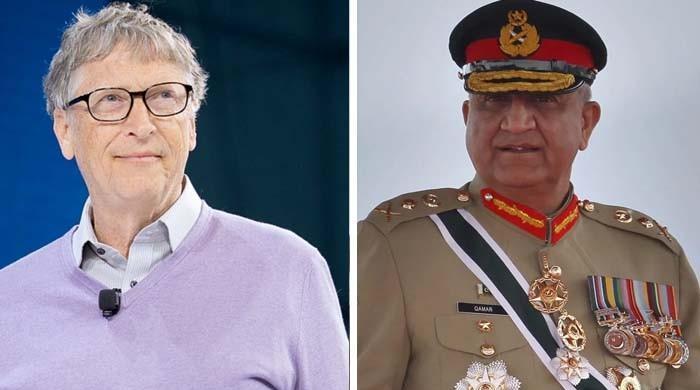 آرمی چیف جنرل قمر باجوہ اور بل گیٹس کے درمیان ٹیلی فونک رابطہ