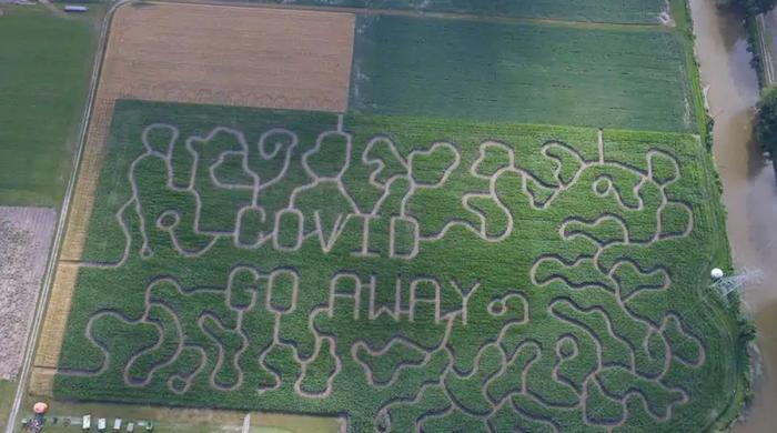 کسان کا 13 ایکڑ زمین پر  پیغام
