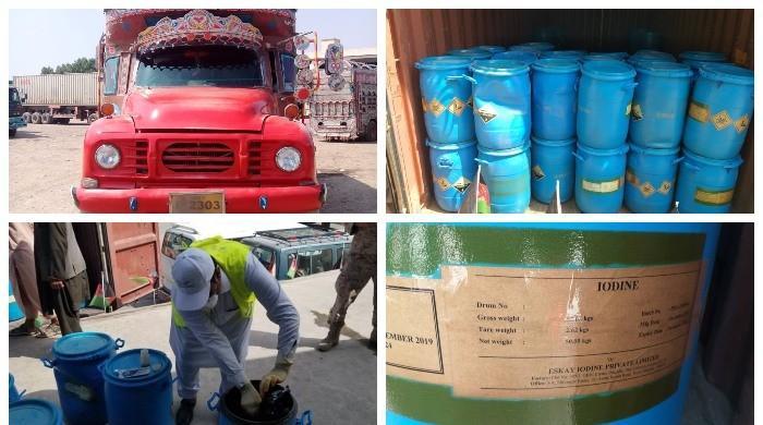 پاک افغان کسٹمز کی مشترکہ کاروائی، 6 میٹرک ٹن خطرناک کیمیکل پکڑا گیا
