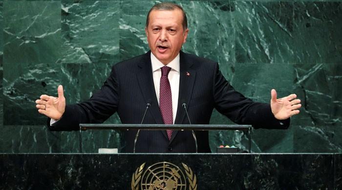 مسئلہ کشمیرو فلسطین حل نہ ہونے سے عالمی اداروں کی ساکھ کو نقصان ہوا: ترک صدر