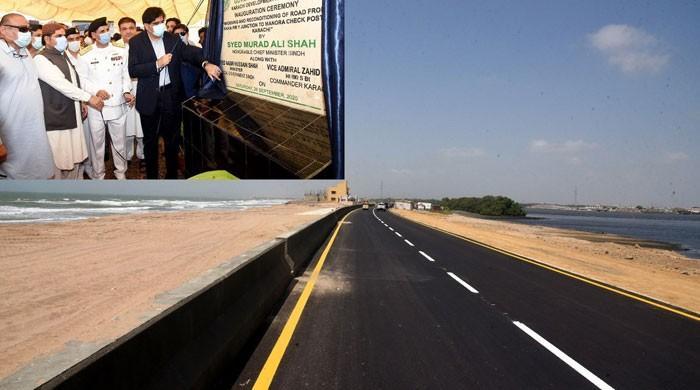 وزیر اعلیٰ سندھ نے کاکا پیر سے منوڑہ جانے والی سڑک کا افتتاح کردیا