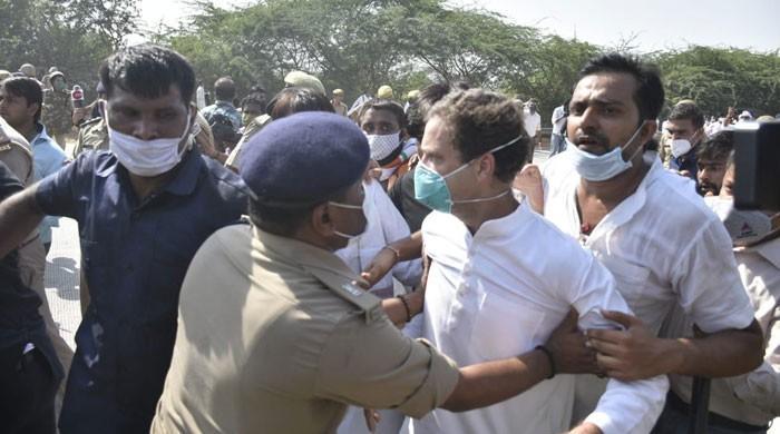 زیادتی کا شکار لڑکی کے لواحقین سے ملنے جانیوالے راہول گاندھی گرفتار