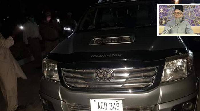دارالعلوم کورنگی سے مولانا عادل کی گاڑی کا تعاقب کیا گیا: پولیس