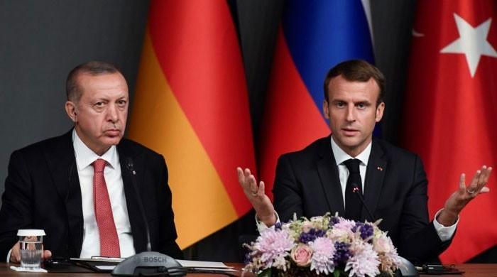 فرانسیسی صدر کو دماغی معائنے کی ضرورت ہے، اردوان پھر میکرون پر برس پڑے