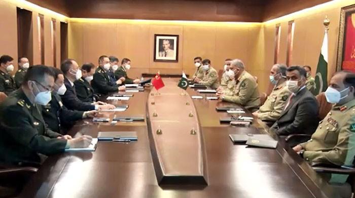 پاکستان اور چینی افواج کے درمیان تعاون بڑھانےکی مفاہمتی یادداشت پر دستخط